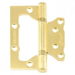 Дверная петля без врезки PLP 100мм (матовое золото)
