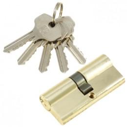 "Личинка замка ""PLP"" 70 мм английский ключ/ключ PB Полированная латунь"