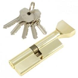 "Личинка замка ""PLP"" 100 мм английский ключ/вертушка Полированная латунь"