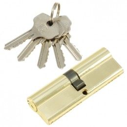 "Личинка замка ""PLP"" 100 мм английский ключ/ключ  Полированная латунь"