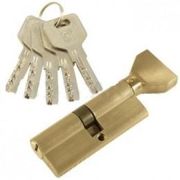 "Личинка замка ""PLP"" 60 мм перфо.ключ-вертушка PB Полированная латунь"