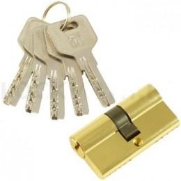 """Личинка замка """"PLP"""" 60 мм перфо. ключ-ключ  Полированная латунь"""