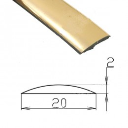 Профиль под золото гибкий SAL/M29-S (75 п.м.)