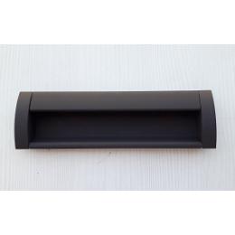 Ручка врезная (коричневая) 128 мм