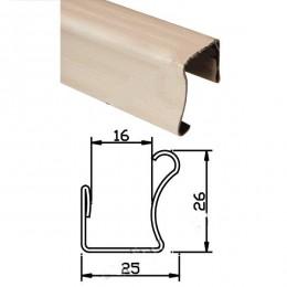 Вертикальная ручка 16мм молочный дуб 2,75м