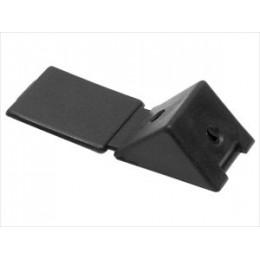 Уголок монтажный черный (2) пластик