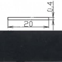 Кромка меламиновая МКР-19 (с клеем), черная