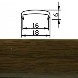 Профиль С16мм гибкий, орех тосканский