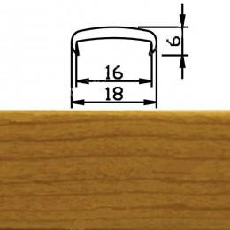 Профиль С16мм гибкий, вишня испанская