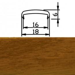 Профиль С16мм гибкий, вишня красная