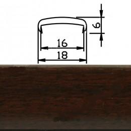 Профиль С16мм гибкий, махагон