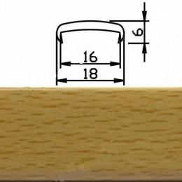 Профиль С16мм гибкий, бук фактурный