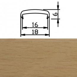 Профиль С16мм гибкий, бук розовый (Рион)