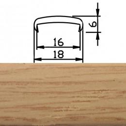 Профиль С16мм гибкий, дуб классический