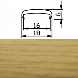 Профиль С16мм гибкий, дуб фактурный