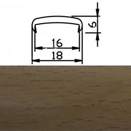 Профиль С16мм гибкий, бук темный