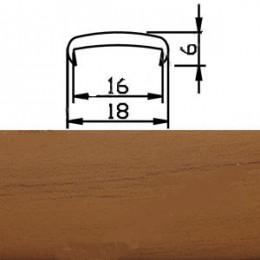 Профиль С16мм гибкий, вишня (Рион)