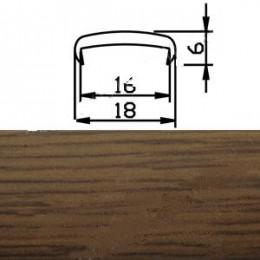 Профиль С16мм гибкий, дуб темный