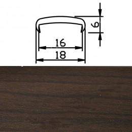 Профиль С16мм гибкий, дуб венге