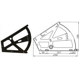 Кронштейн для обувных тумб с втулкой черный(пластик)