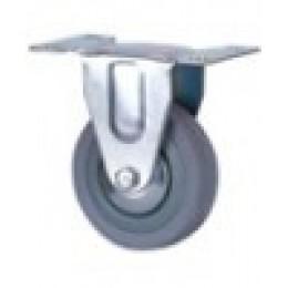 Колесо резиновое неповоротное д.50 мм