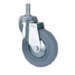 Колесо серая резина д.50 мм с болтовым креплением поворотное