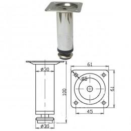 Опора d.30х100 мм, хром