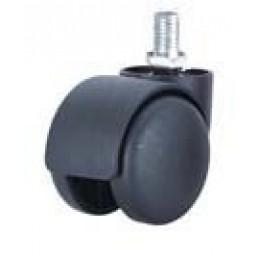 Колесо мебельное d.50 с резьбой М10 (черное)