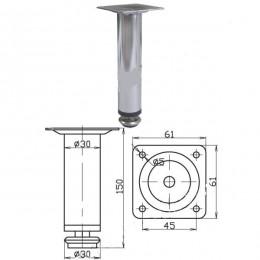 Опора d.30х150 мм, хром