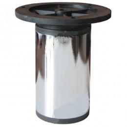 Опора d.50мм, Н100-140 мм, хром