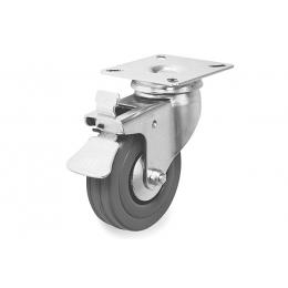 Колесо резиновое оборотное со стопором д.50 мм