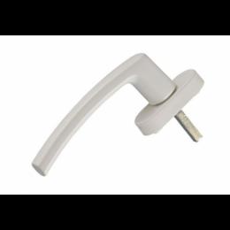 Ручка оконная ПВХ алюминиевая (белая)
