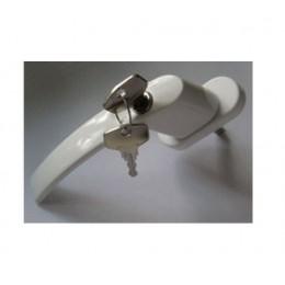 Ручка оконная с ключом (белая)
