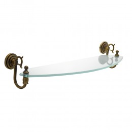 "Полка для ванной комнаты стеклянная 60 см Fuente Real ""Hestia"" бронза"