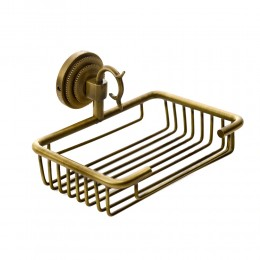 "Мыльница для ванной настенная решетчатая Fuente Real ""Hestia"" бронза"