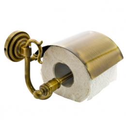 """Держатель для туалетной бумаги с крышкой Fuente Real """"Нestia"""" бронза"""