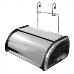 Хлебница нержавеющая на рейлинги 335*200*350, хром