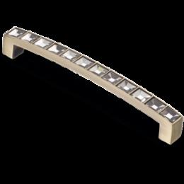 Мебельная ручка CRL02-128 BA Crystal