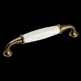 Ручка-скоба с фарфором (песок)